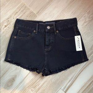 PacSun Melville Dark Wash Navy High Waisted Shorts
